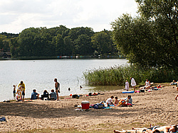 Badestelle am Sakrower See
